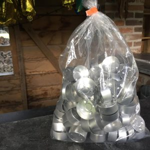 Theelicht cups - aluminium