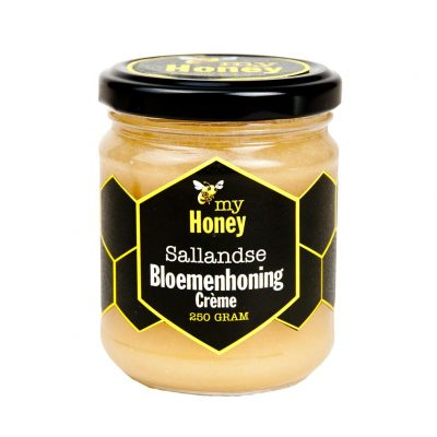 Sallandse Bloemenhoning crème 250 gram