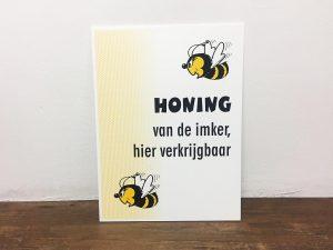 Reclamebord - Honing van de imker met bij