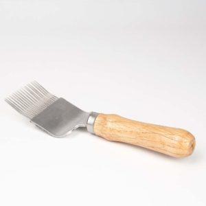 Ontzegelvork hout gebogen model