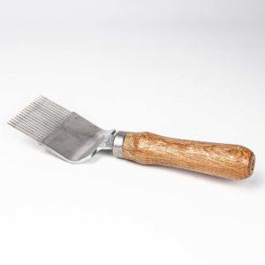 Ontzegelvork hout recht model