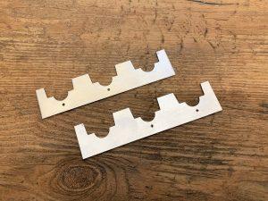 Afstandsrepen 3 ramen Simplex aluminium – per 2