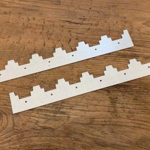 Afstandsrepen 6 ramen Simplex aluminium - per 2