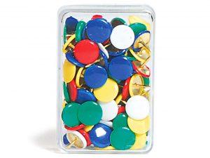 Gekleurde Punaises - 100 stuks, doos van 100 stuks in verschillende kleuren