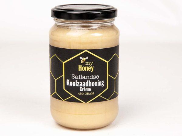 Sallandse Koolzaadhoning crème 450 gram