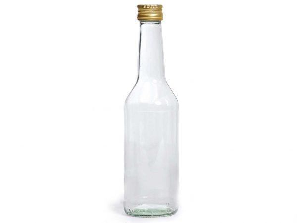 Rechte hals fles 250 ml met deksel goud Tok 28 - 40 stuks