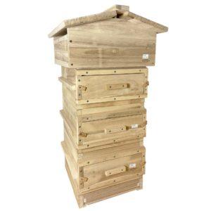 Warré bijenkast met kijkramen en varroalade