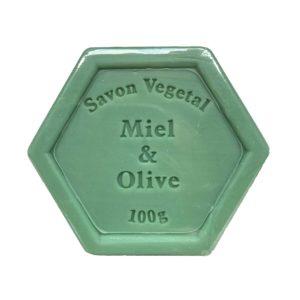 Plantaardige zeep met honing en olijfolie – 100 gram