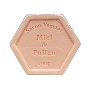 Plantaardige zeep met honing en stuifmeel – 100 gram